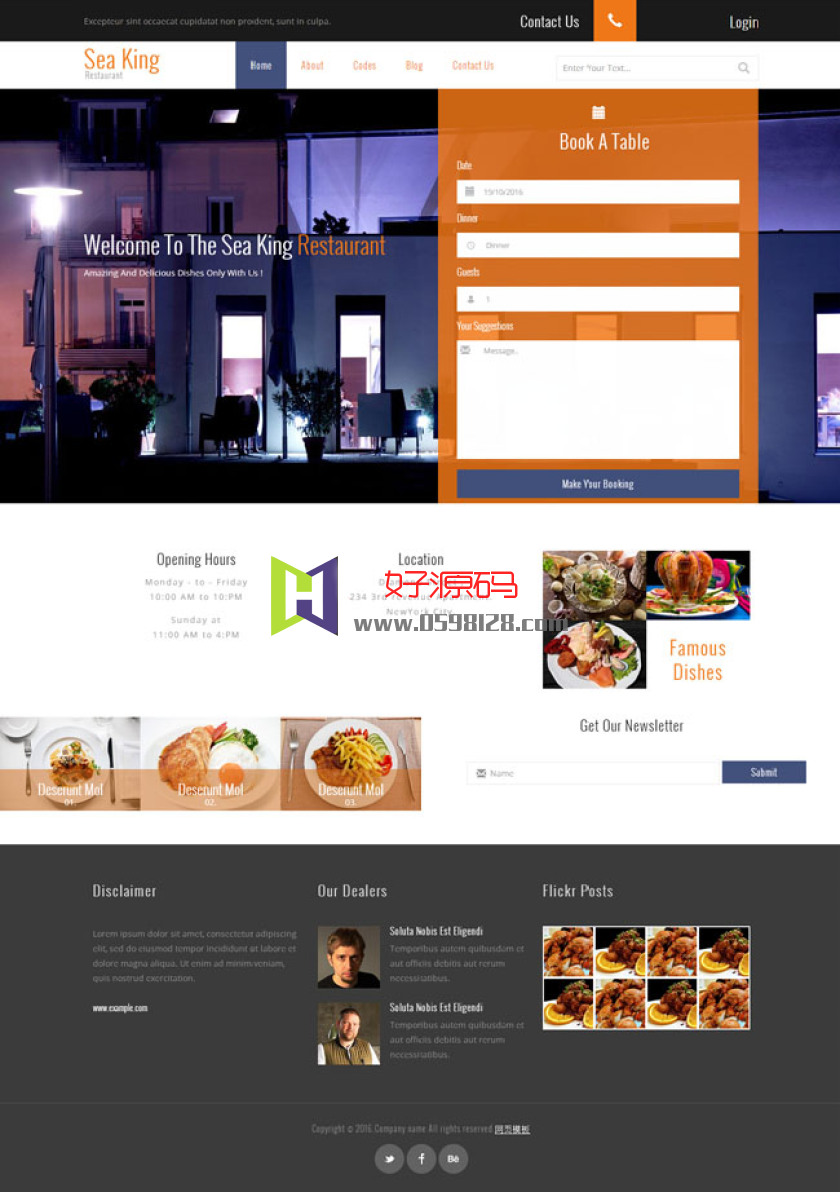 CSS3餐厅酒店网站模板是一款基于HTML5+CSS3实现的酒店预订模板下载。