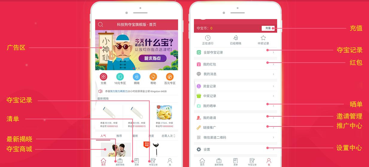 科技狗云购夺宝程序商业版|一元云购源码-菜鸟源码资源站